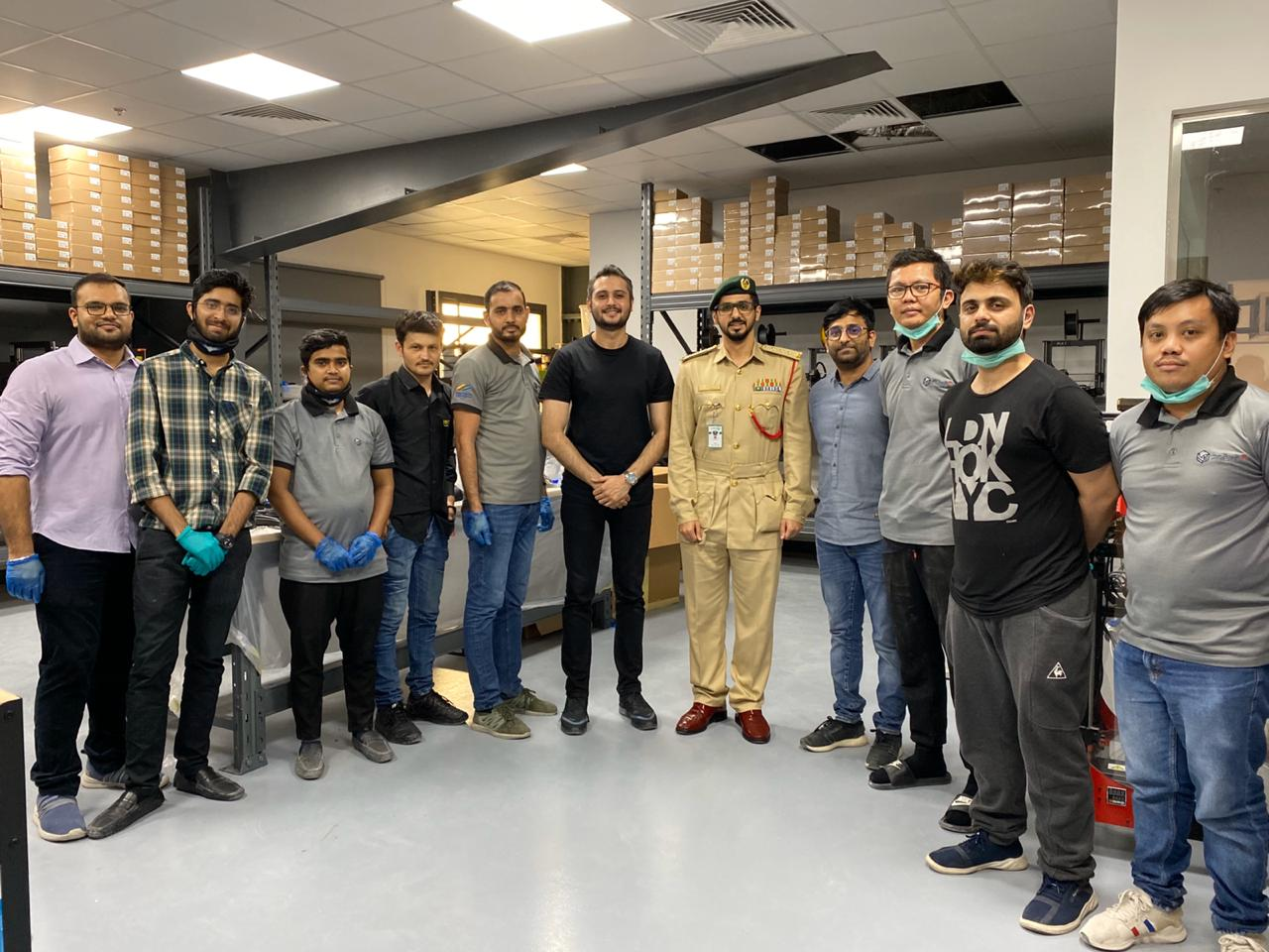 Dubai Police provides 3D printed face shields to its frontline heroes